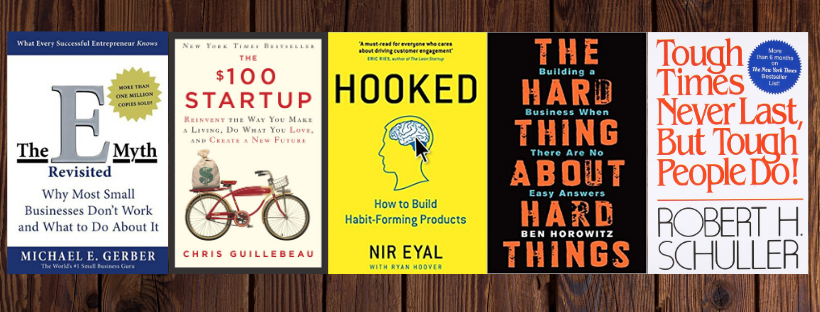 Top 10 books that should be on every start-up entrepreneur's bookshelf!